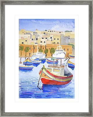 Marsaxlokk Harbour Framed Print
