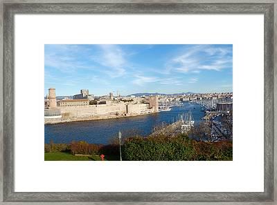 Marseille Vieux Port Framed Print by Amelia Racca