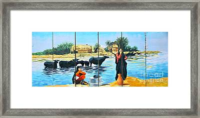 Marsh Arabs - Basrah Iraq Framed Print by Unknown - Local National