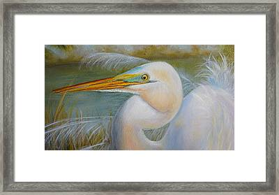 Framed Print featuring the painting Marsh Master by Marlyn Boyd