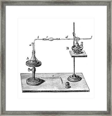 Marsh Test Apparatus, 1867 Framed Print