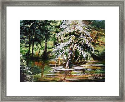 Framed Print featuring the painting Marsh Tide by Karen  Ferrand Carroll