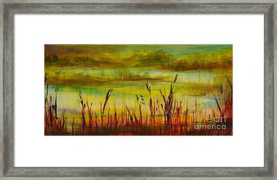 Marsh View Framed Print by Sandra Taylor-Hedges