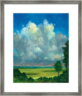 Marsh With Palms Framed Print