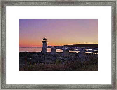 Marshell Point Light House Framed Print