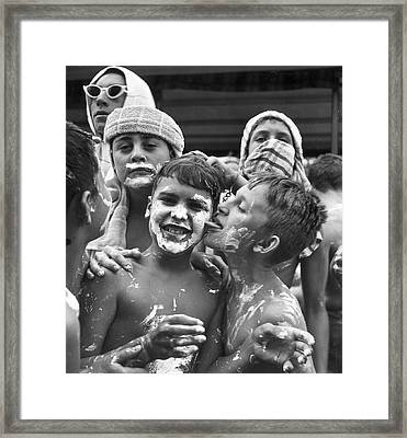 Marshmallow Fun Framed Print by Archive Photos