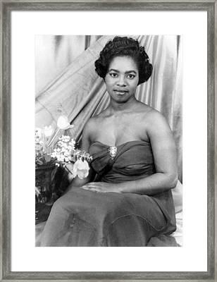 Martha Flowers (c1920- ) Framed Print by Granger