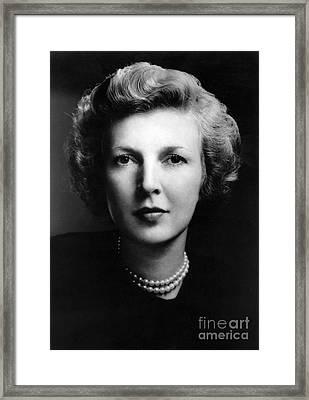 Martha Gellhorn (1908-1998). American Novelist. Photographed In 1943 Framed Print by Granger