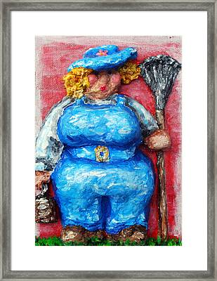 Martha In The Garden Framed Print