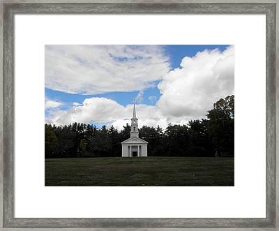 Martha Mary Chapel  Framed Print by Kim Galluzzo Wozniak