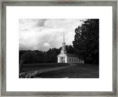 Martha Mary Chapel Usa Framed Print by Kim Galluzzo Wozniak