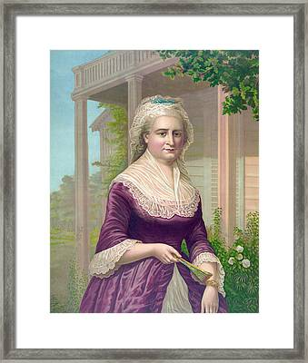 Martha Washington, Colored Lithograph Framed Print