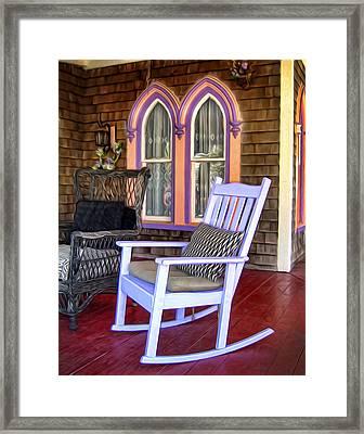 Martha's Rocking Chair Framed Print by Tammy Wetzel