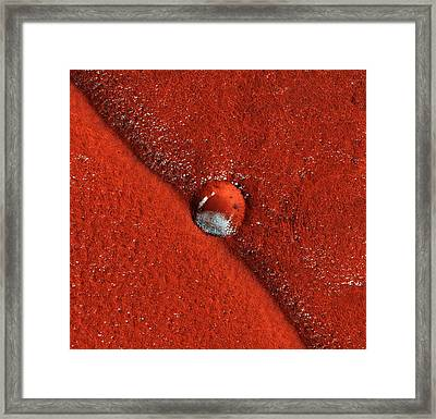 Martian Impact Crater, Satellite Image Framed Print by Nasajpluniversity Of Arizona
