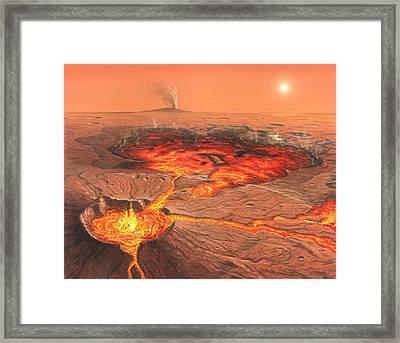 Martian Volcanos Framed Print