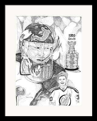 This Image Of Martin Brodeur Of The New Jersey Devils Took Over 12 Hours Framed Prints