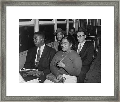 Martin Luther King And Others Take Framed Print by Everett