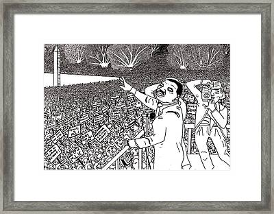 Martin Luther King Drawing Framed Print