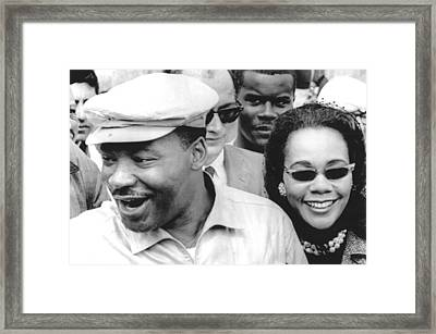 Martin Luther King Jr. And Coretta Framed Print by Everett