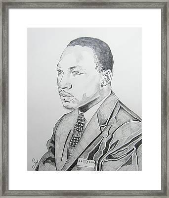 Martin Luther King Jr. Framed Print by John Keaton
