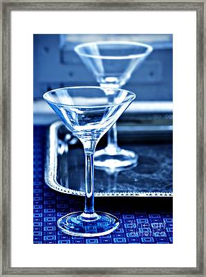 Martini Glasses Framed Print by HD Connelly
