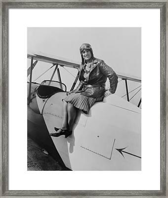 Marvel Crosson 1904-1929 Held Framed Print