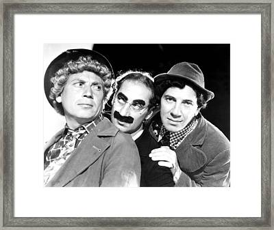 Marx Brothers, The Harpo, Groucho Framed Print