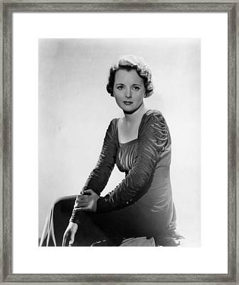 Mary Astor, Circa 1930s Framed Print by Everett