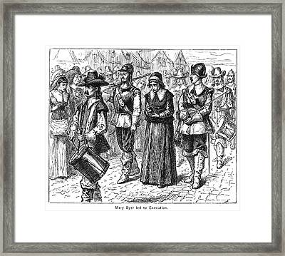 Mary Dyer, D.1660 Framed Print