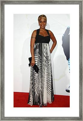 Mary J. Blige Wearing An Emilio Pucci Framed Print by Everett