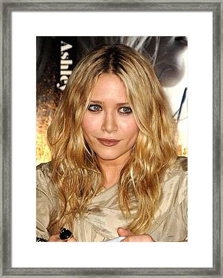 Mary-kate Olsen At In-store Appearance Framed Print by Everett