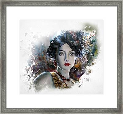 Mary Lips Like Cherries Framed Print by Tanya Jacobsz