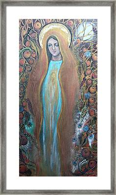 Mary Magdalene And The Tree Of Life Framed Print