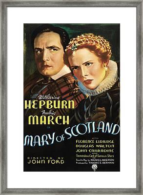 Mary Of Scotland, Fredric March Framed Print