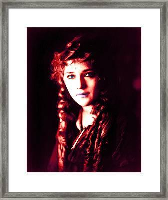 Mary Pickford 2 Framed Print by Steve K
