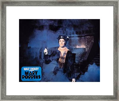 Mary Poppins, Julie Andrews, 1964 Framed Print