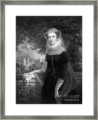 Mary Queen Of Scots Framed Print by Photo Researchers