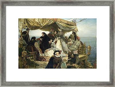 Mary Stuart's Farewell To France Framed Print