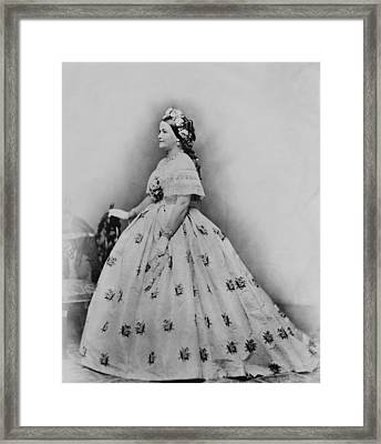 Mary Todd Lincoln 1818-1882, As First Framed Print by Everett