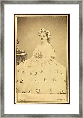 Mary Todd Lincoln 1818-1882 Framed Print by Everett