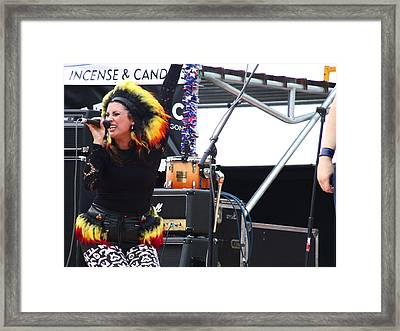 Maryjane Sings Loud And Proud Framed Print by Kym Backland