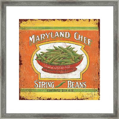 Maryland Chef Beans Framed Print