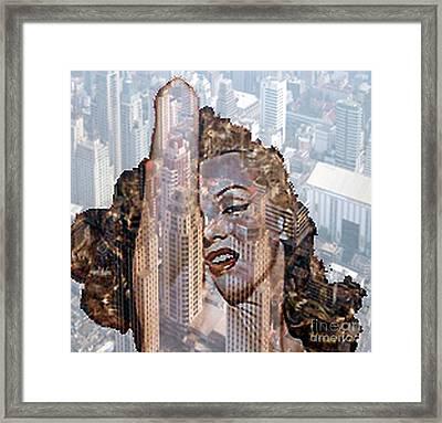 Marylin And City Framed Print by Yury Bashkin