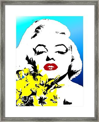 Framed Print featuring the painting Marylin Monroe by Jann Paxton