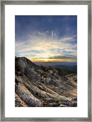 Marys Rock Shenandoah National Park Framed Print by Dustin K Ryan