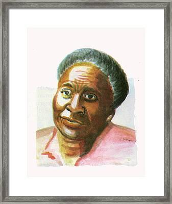 Maryse Conde Framed Print by Emmanuel Baliyanga