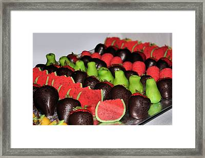 Marzipan And Chocolate Framed Print