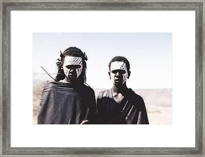 Masai Teens On Quest Framed Print