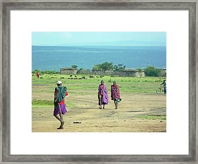 Masai Village Framed Print
