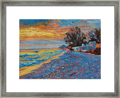 Masasota Key Sunset Framed Print